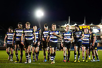 Bath United players leave the pitch at half time. Aviva A-League match, between Bath United and Wasps A on December 28, 2016 at the Recreation Ground in Bath, England. Photo by: Patrick Khachfe / Onside Images