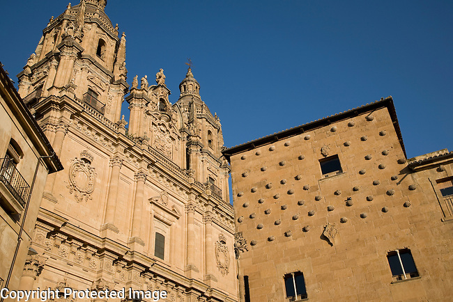 Casa de las Conchas House and Real Clerica de San Marcos, Univeristy of Salamanca, Castile and Leon, Spain