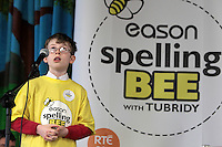 NO FEE PICTURES.8/3/12 Kevin Dunne, Holy Trinity NS, Leopardstown, taking part in the Dublin County final, part of the overall Eason 2012 Spelling Bee, held at St Olaf's NS, Dundrum. .For further details visit www.easons.com/spellingbee and stay tuned to RTE 2fm. Picture:Arthur Carron/Collins