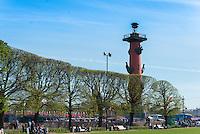 Rostral Column On Vasilievksy Island, St. Petersburg