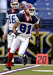 31 December 2006: Buffalo Bills wide receiver Peerless Price (81) warms up prior to a game against the Baltimore Ravens at M&amp;T Bank Stadium in Baltimore, Maryland. The Ravens defeated the Bills 19-7. Mandatory Photo Credit: Ed Wolfstein Photo.<br />