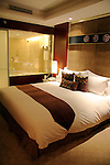 Asia, China, Xian. Sofitel Suite Bed