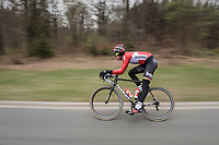 Tim Wellens (BEL/Lotto Soudal) speeding along<br /> <br /> Team Lotto-Soudal at the Li&egrave;ge-Bastogne-Li&egrave;ge 2017 recon