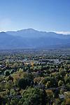 Pike's Peak above Colorado Springs, Colorado
