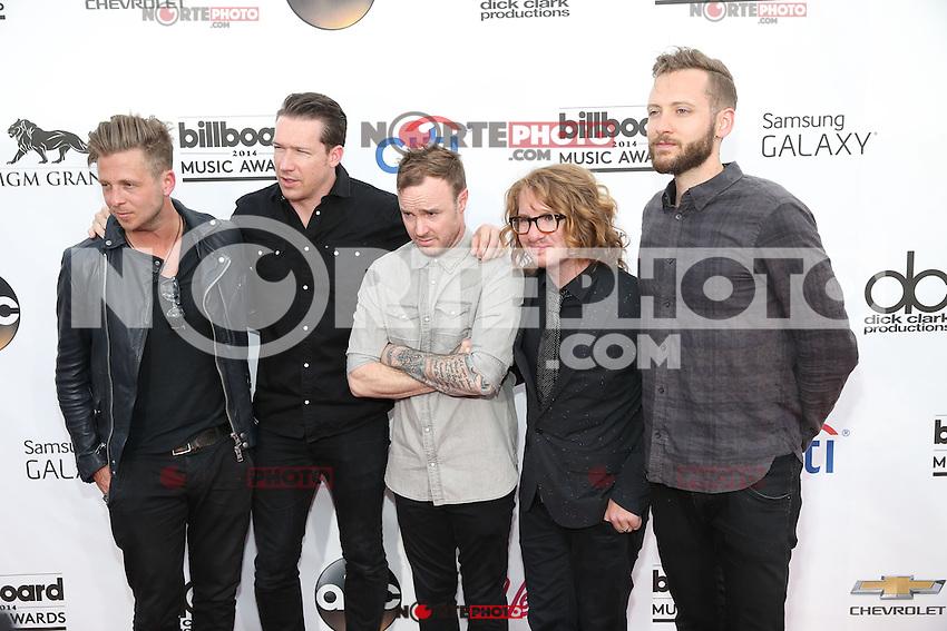 LAS VEGAS, NV - May 18 : One Republic pictured at 2014 Billboard Music Awards at MGM Grand in Las Vegas, NV on May 18, 2014. ©EK/Starlitepics