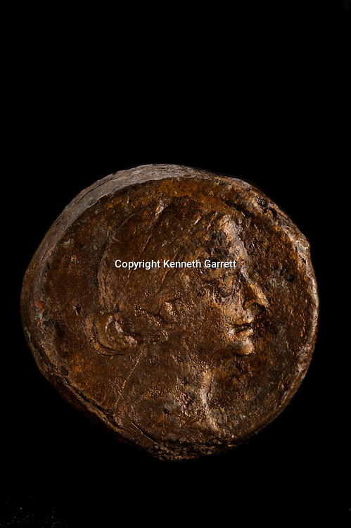 Cleopatra, The Search for the Last Queen of Egypt, Exhibit Catalog, page 1, Cleopatra Exhibit, Egypt, Taposiris Magna, Bronze Coin, Cleopatra Face