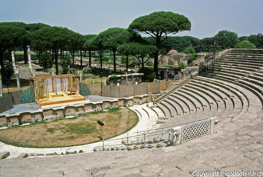 Italy: Ostia--The Theatre. Photo '83.