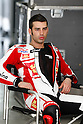 February 4, 2010 - Kuala Lampur, Malaysia - Italian rider Marco Melandri (San Carlo Honda Gresini) takes a break in his box during MotoGP testing on Sepang International Circuit on February 4, 2010. (Photo Andrew Northcott/Nippon News)
