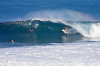 CHRIS WARD (USA) surfing at Backdoor, North Shore of Oahu, Hawaii. Photo: joliphotos.com