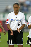 1 August 2003: Angela Hucles. The Boston Breakers defeated the New York Power 3-2 at Mitchel Field in Uniondale, NY in a regular season WUSA game..Mandatory Credit: Scott Bales/Icon SMI