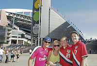 USA fans outside Qwest Field. USA defeated Grenada 4-0 during the First Round of the 2009 CONCACAF Gold Cup at Qwest Field in Seattle, Washington on July 4, 2009.