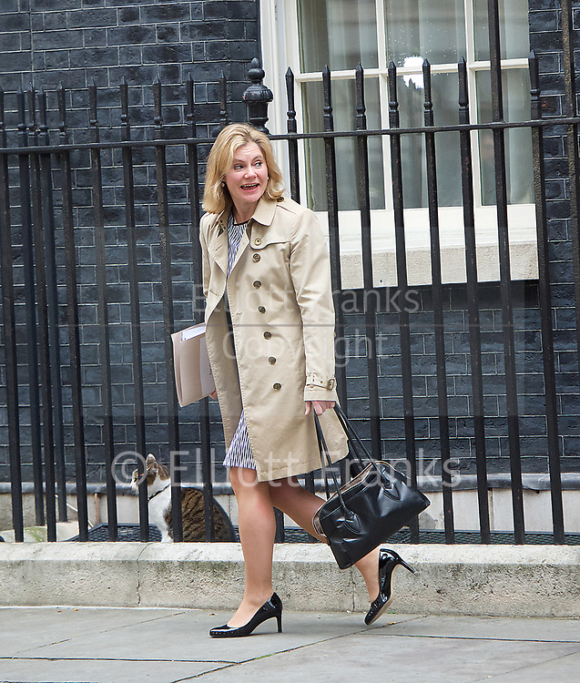 Cabinet Meeting <br /> 10 Downing Street London, Great Britain <br /> 29th March 2017 <br /> <br /> departures following the final cabinet meeting before Article 50 is triggered in Parliament today.<br /> <br /> Justine Greening MP <br /> <br /> <br /> <br /> <br /> Photograph by Elliott Franks <br /> Image licensed to Elliott Franks Photography Services
