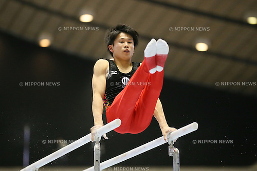 Kazuma Kaya, <br /> MAY 17, 2015 - Artistic Gymnastics : <br /> The 54th NHK Cup <br /> Men's Individual All-Around <br /> Parallel bars <br /> at Yoyogi 1st Gymnasium, Tokyo, Japan. <br /> (Photo by YUTAKA/AFLO SPORT)
