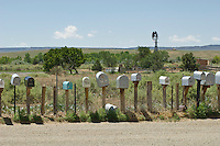 Rows of Mailboxes In New Mexico