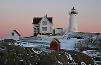 Sunrise & Christmas at Nubble Light  #LH43
