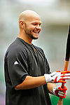 1 May 2011: San Francisco Giants outfielder Cody Ross awaits his turn in the batting cage prior to a game against the Washington Nationals at Nationals Park in Washington, District of Columbia. The Nationals defeated the Giants 5-2. Mandatory Credit: Ed Wolfstein Photo