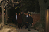 Chicago, IL - November 22, 2008 -- United States President-Elect Barack Obama and his wife Michelle arrive at the home of Penny Pritzker for dinner Saturday evening, November 22, 2008 in Chicago..Credit: Anne Ryan - Pool via CNP