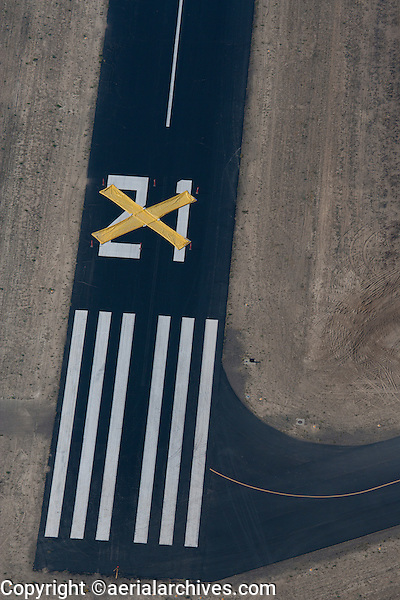 aerial photograph closed runway Wyoming