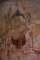 Paintings at the Sulamani Temple, Bagan, Myanmar, Burma.