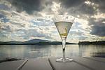 Martini with Moosehead Lake.