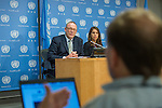 Press briefing by the UN Special Rapporteur on counter terrorism and human rights, Mr. Ben Emmerson,