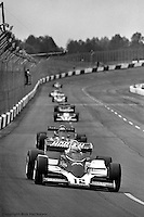 HAMPTON, GA - APRIL 22: Bobby Unser drives his Penske/Cosworth TC during the Gould Twin Dixie 125 event on April 22, 1979, at Atlanta International Raceway near Hampton, Georgia.