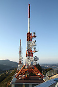 Mar 29, 2010; Nagasaki, JPN - TV tower on top of Mt. Isa.