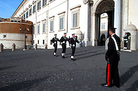 Roma 22 Novembre 2007.Reparto della Marina Militare durante il cambio della guardia al Quirinale sede del Presidente della Repubblica .23 November 2007.Italian navy  perform the daily changing of the guard ceremony at the 'Quirinale Palace' presidential residence in central Rome . .
