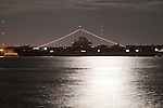 USS Yorktown Aircraft Carrier at night Charleston South Carolina