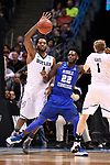 MILWAUKEE, WI - MARCH 18: Butler Bulldogs forward Tyler Wideman (4) and Middle Tennessee Blue Raiders forward JaCorey Williams (22) jostle for position during the second half of the 2017 NCAA Men's Basketball Tournament held at BMO Harris Bradley Center on March 18, 2017 in Milwaukee, Wisconsin. (Photo by Jamie Schwaberow/NCAA Photos via Getty Images)