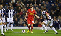 WEST BROMWICH, ENGLAND - Wednesday, September 26, 2012: Liverpool's Jack Robinson in action against West Bromwich Albion during the Football League Cup 3rd Round match at the Hawthorns. (Pic by David Rawcliffe/Propaganda)