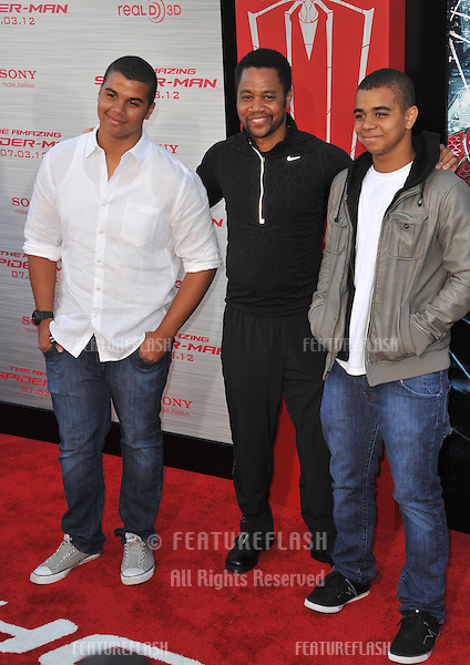"""Cuba Gooding Jr & sons Mason Gooding (left) & Spencer Gooding at the world premiere of """"The Amazing Spider-Man"""" at Regency Village Theatre, Westwood..June 29, 2012  Los Angeles, CA.Picture: Paul Smith / Featureflash"""