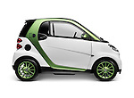 2010 Smart Fortwo Electric Drive - eSmart - Smart ED battery powered city car. Isolated on white background with clipping path.