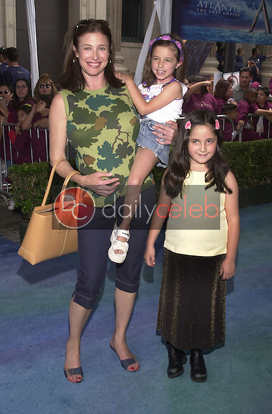 Mimi Rogers, daughter Lucy and friend