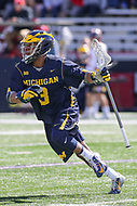 College Park, MD - April 1, 2017: Michigan Wolverines Chase Young (3) in runs with the ball during game between Michigan and Maryland at  Capital One Field at Maryland Stadium in College Park, MD.  (Photo by Elliott Brown/Media Images International)