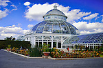 The Palm House or Haupt Conservatory in the New York Botanical Gardens.
