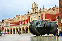 The Renaissance Sukiennice (Cloth Hall, Drapers' Hall) in Kraków, Poland is a famous city landmark.
