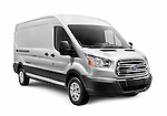 2014 Ford Transit EcoBoost van isolated on white background with clipping path