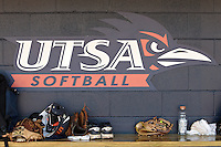 SAN ANTONIO, TX - APRIL 2, 2011: The University of Texas at Arlington Mavericks vs. the University of Texas at San Antonio Roadrunners Softball at Roadrunner Field. (Photo by Jeff Huehn)