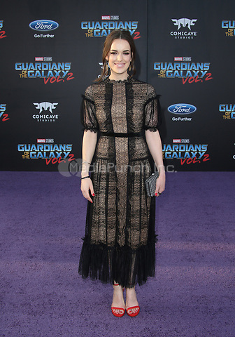 """HOLLYWOOD, CA - April 19: Elizabeth Henstridge, At Premiere Of Disney And Marvel's """"Guardians Of The Galaxy Vol. 2"""" At The Dolby Theatre  In California on April 19, 2017. Credit: FS/MediaPunch"""