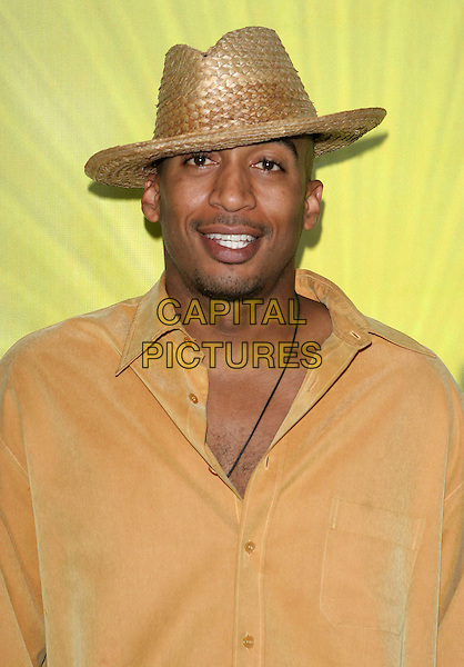 JAMES LESURE.Las Vegas Cocktail Party held at The Beverly Hilton, Beverly Hills, CA..July 24th, 2005.Photo credit: Jacqui Wong/AdMedia.headshot portrait straw hat goatee mustache facial hair.www.capitalpictures.com.sales@capitalpictures.com.© Capital Pictures.