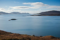 View of West Loch Tarbert, Isle of Harris, Outer Hebrides, Scotland