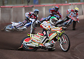 Heat 1 - Adams (green), Stead (blue), Chrzanowski (yellow), Lanham (red) - Lakeside Hammers vs Swindon Robins - Sky Sports Elite League at Arena Essex, Purfleet - 17/08/07  - MANDATORY CREDIT: Gavin Ellis/TGSPHOTO - SELF-BILLING APPLIES WHERE APPROPRIATE. NO UNPAID USE. TEL: 0845 094 6026..