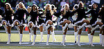 Seattle Seahawks  dance team, the Seagals, perform during a time out called in their game with the San Francisco 49ers  during the quarter  at CenturyLink Field in Seattle, Washington on December 14, 2014.     The Seahawks beat the 49ers 17-7.   © 2014. Jim Bryant Photo. All Rights Reserved.