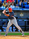7 March 2009: Washington Nationals' outfielder Justin Maxwell in action during a Spring Training game against the New York Mets at Tradition Field in Port St. Lucie, Florida. The Nationals defeated the Mets 7-5 in the Grapefruit League matchup. Mandatory Photo Credit: Ed Wolfstein Photo