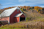 Fall foliage in Pomfret, VT, USA