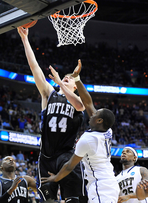 Andrew Smith of the Bulldogs gives his team the lead with a layup late in the second half.  Butler upset no.1 seed Pittsburgh 71-70 during the 3rd round of the NCAA Tournament at the Verizon Center in Washington, D.C on Saturday, March 19, 2011. Alan P. Santos/DC Sports Box