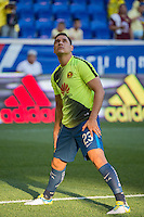 Harrison, NJ - Wednesday July 06, 2016: Moises Munoz during a friendly match between the New York Red Bulls and Club America at Red Bull Arena.