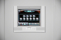 White In Wall Crestron Touch Screen Remote