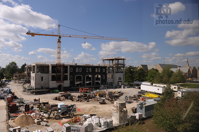 Construction on Stinson-Remick Hall..Photo by Matt Cashore/University of Notre Dame